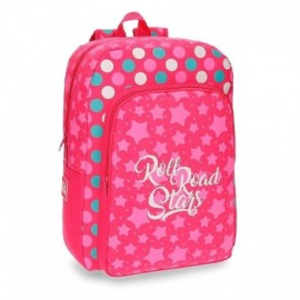 MOCHILA ROLL ROAD STARS 42CM ADAPTABLE
