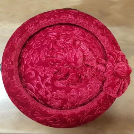 4812dce0b4bae calañés terciopelo brocado rojo talla 55
