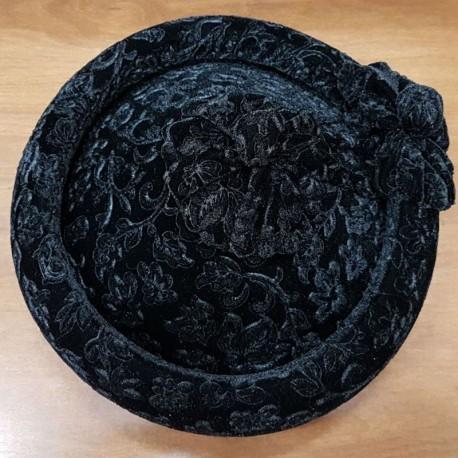af13578e53fc2 Sombrero calañes adulto negro brocado 54
